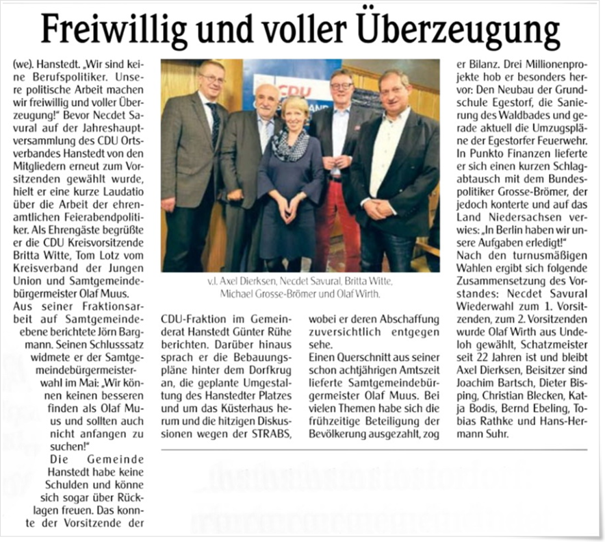Unser Hanstedt April 2019